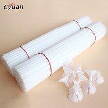 Cyuan 30cm Latex Balloon Stick White PVC Balloons Holder Sticks with Clip Birthday Wedding Party Supplies Kids Decor