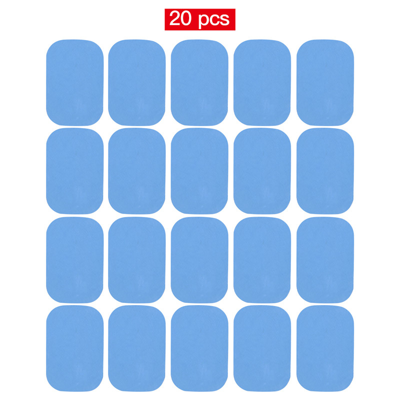 20Pcs 10Pcs Gel Pads for EMS Abdominal ABS Trainer Weight Loss Hip Muscle Stimulator Exerciser Replacement Massager Gel Patch(China)