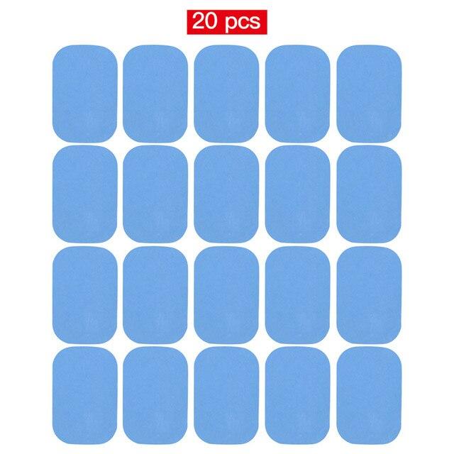 20 個 10 個用ジェルパッド EMS 腹部 ABS 減量ヒップ筋肉刺激エクササイザー交換マッサージジェルパッチ