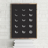Moon Canvas Art Print Poster Wall Pictures For Home Decoration Wall Decor CM038