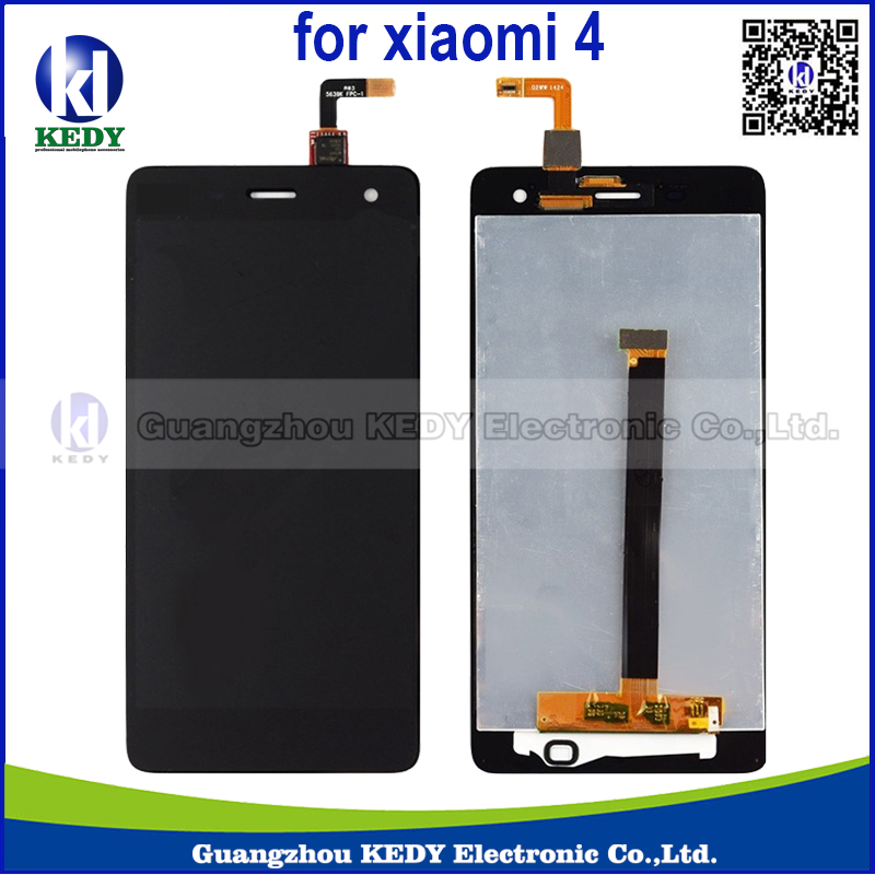 Original For Xiaomi Mi4 M4 LCD Display + Touch Screen Digitizer Assembly Replacement Parts Black&White