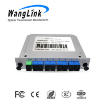 WangLink FTTH epon olt ONT ONU fiber optical Splitter 1*8 SC GPON Splitter