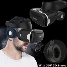 VR Shinecon 4.0 Case Virtual Reality Glasses Googles VR Headset/Glasses with 3D Imax Headphone for Iphone Sony Huawei Eye Travel