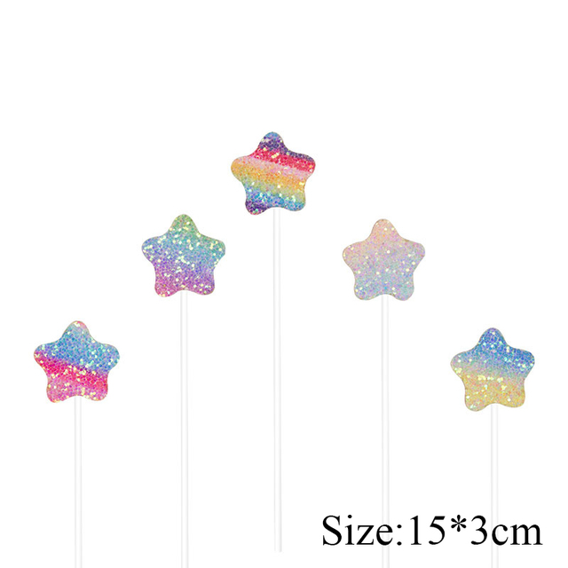 Rainbow Birthday Cake Toppers