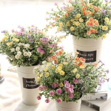 1 Bouquet Artificial Daisy Flowers Simulation Plants Fake flowers Marguerites Plastic for Home Wedding Decoration