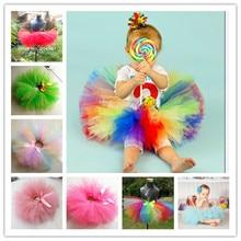Детский пушистый костюм для дня рождения с единорогом для девочек; Радужная юбка-пачка; ручная работа