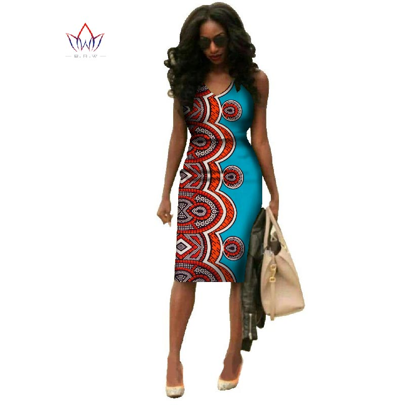 Vestidos 2018 African Dresses For Women Dashiki Plus Size Fashion African Wax Print Dres ...