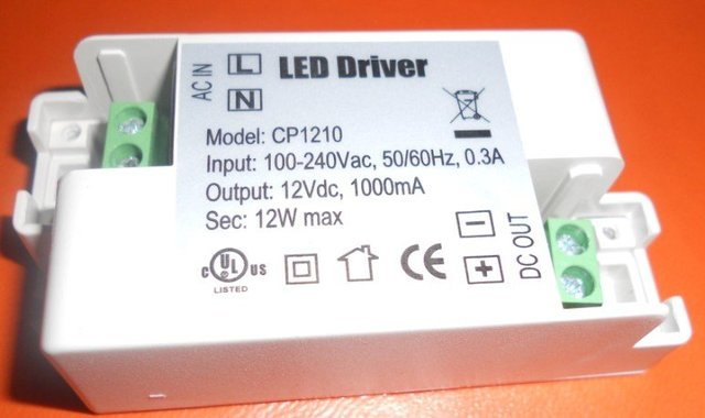 MR16 External power supply,12V 1A,12W LED Driver;constant voltage