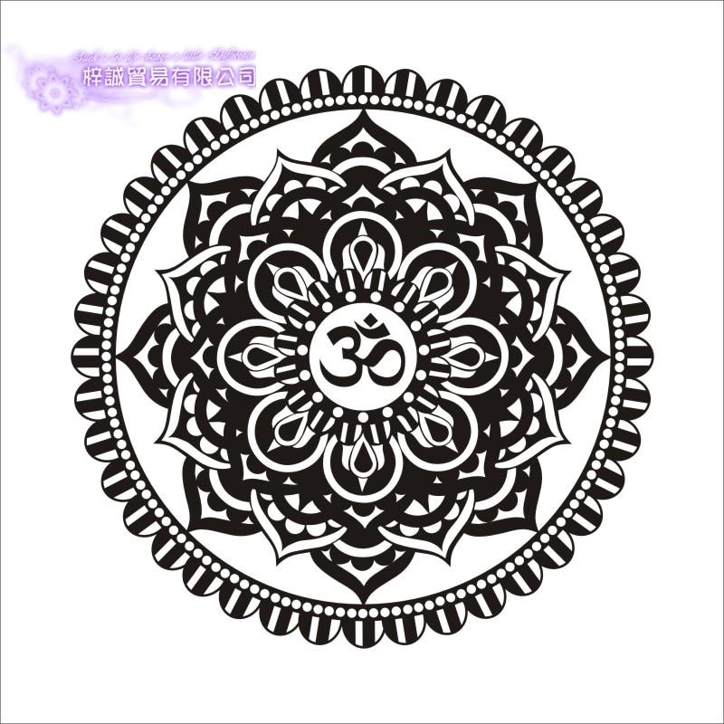 DCTAL Mandala Wall Sticker Buddha Hinduism Namaste Decals Yoga Bed Head Home Decor Lotus Decoration