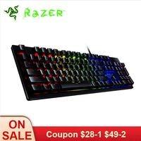 Razer Huntsman Проводная игровая клавиатура Механическая игровая клавиатура RGB подсветка Тактильные переключатели эргономичный дизайн для ПК но
