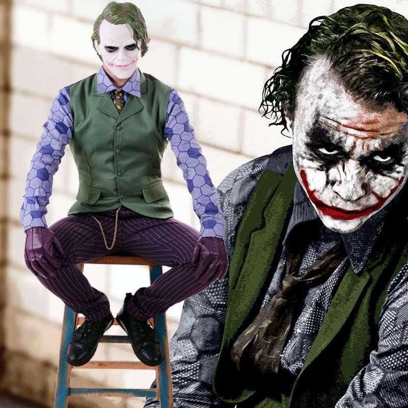 Бэтмен Темный рыцарь Rises Джокер Косплей форма костюм мужские костюмы на Хэллоуин Карнавальный костюм на заказ