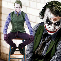 Batman The Dark Knight Rises Joker Cosplay Uniform Anzug männer Halloween Kostüme Karneval Phantasie Party Kostüm Nach Maß