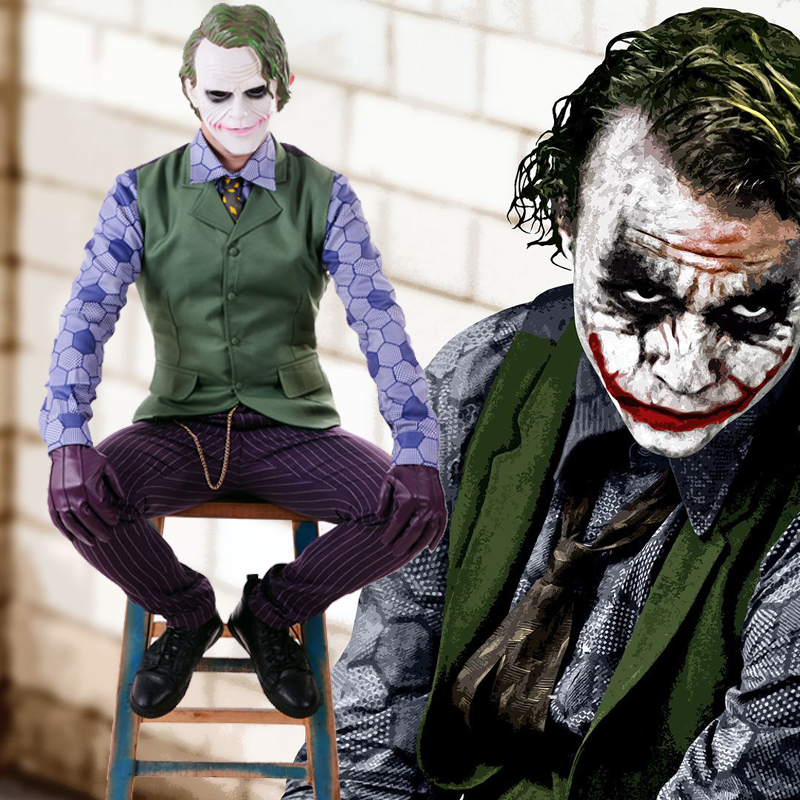 Batman The Dark Knight Rises Joker Cosplay Uniforme Terno Fantasias de Carnaval Fantasia Festa a Fantasia do Dia Das Bruxas dos homens Feitos Sob Encomenda