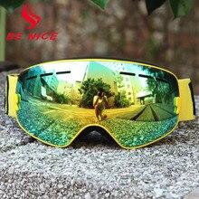 Benice Skiing Eyewear Anti-Fog Double Lens skiing goggle Unisex Multi-Color Snow Ski glasses Outdoor Sports snowboard goggles