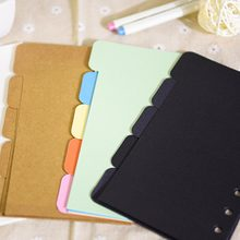 Colorful thick paper Separator Rings Notebook 6 hole Index P