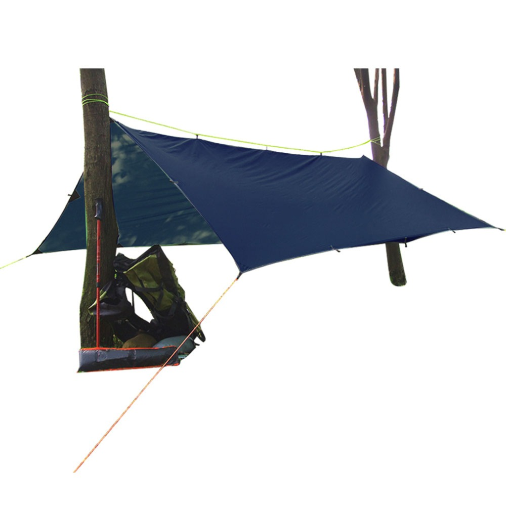 10*10 Feet 40D Silicon Coating Sun Sail Shade Square Canopy Cover Outdoor Gray/Dark Green/Dark Blue New Brand iphuck 10