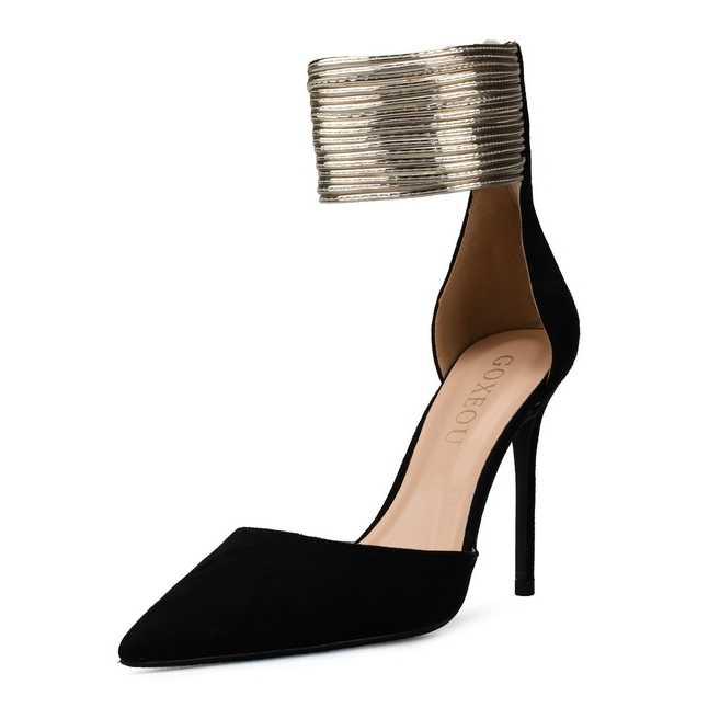 נוחות סנדלי פס צר קרסול רצועת עקבים גבוהים נשים קיץ נעלי נשים סקסי אדום צבע המפלגה שמלת סנדלי גדול גודל j0061