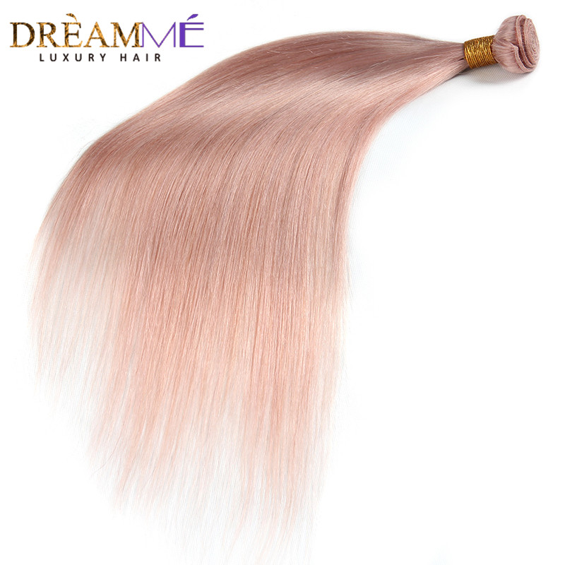 Dreaming Queen Hair Solid Pink Ombre Brasilian Straight Human Hair - Menneskehår (sort) - Foto 6