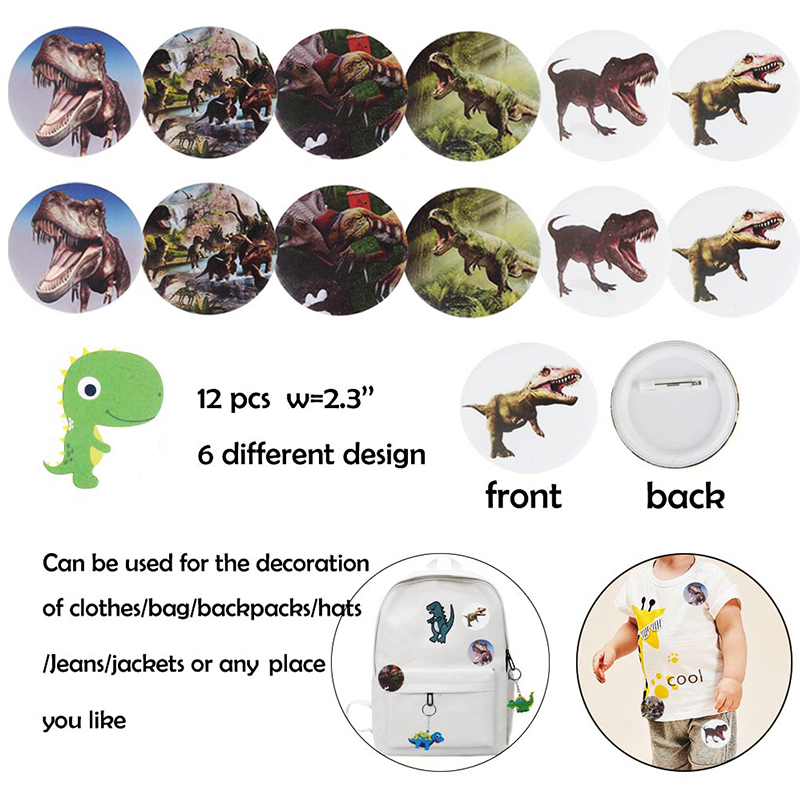 Image 4 - Dinosaur Party Favor For Kids Birthday Party Bags Toys Rings Bracelets Tattoo Dinosaur Party Supplies Baby Shower Gifts Keychain-in Party Favors from Home & Garden