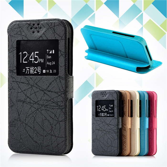 Fashion Case Flip Silicon Back Cover Universal 4.5 PU Leather Cases For BQ BQS-4560 Golf Case Phone Cover Gift, F2
