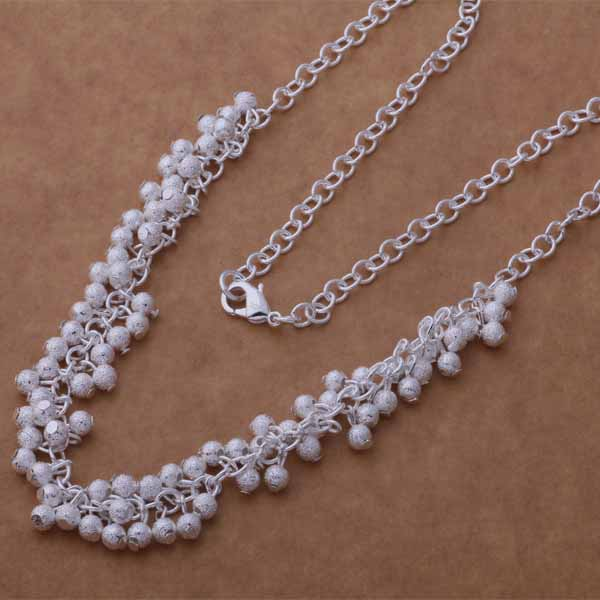 An745 Trendy Wholesale Silver Necklace Jewelry & Accessories 925 Silver Fashion Jewelry Light Grapes /cesakvza Cecakvja With Traditional Methods Chain Necklaces