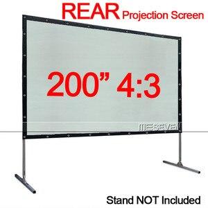 200 дюймов 4:3 портативная полупрозрачная занавеска из ПВХ для задней/задней проекционной экрана, тканевая занавеска для любого домашнего кин...