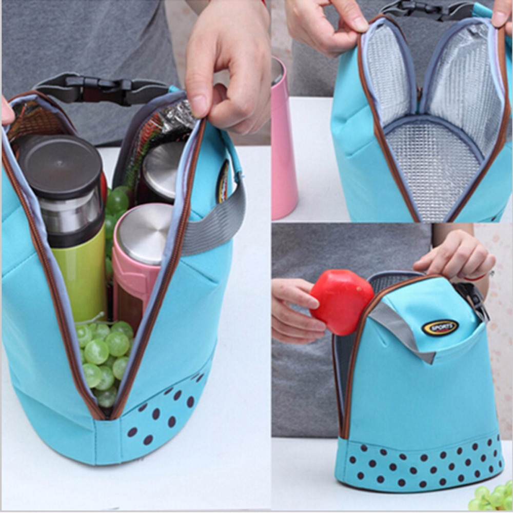 Travel Picnic Oxford Hand Bag Organizer Insulated Thermal Carry Bag Food Drinks Holder Travel Bag