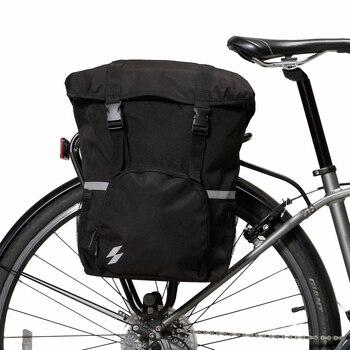 1eeb0d08ad9 Roswheel Sahoo serie 14891-A-SA bicicleta cola asiento trasero tronco bolsa  de sillín de la bicicleta estante lado alforjas bolsa 15L