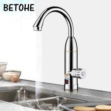 Cozinha elétrica torneira de aquecimento instantâneo aquecedor de água quente e fria dupla utilização tankless aquecimento rápido torneira do chuveiro com display led
