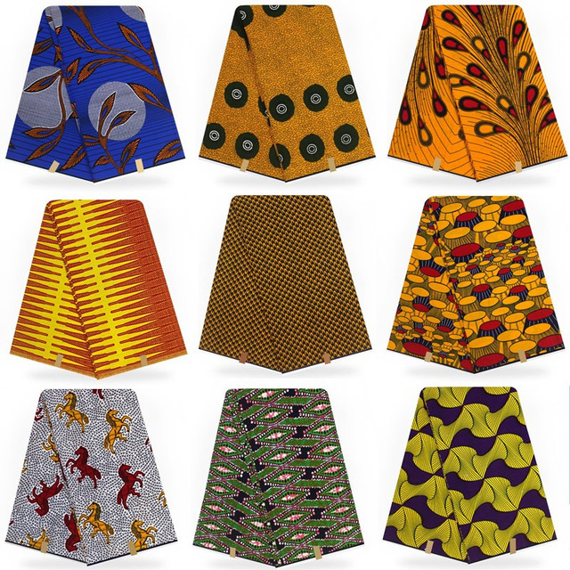 Thiết kế xuất sắc veritable Hà Lan thật hollandais sáp, Châu Phi in hình chất liệu vải 100% cotton chất lượng cao T110301