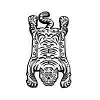Alfombra y alfombra casa Sala de estar Alfombras Para La Sala Moderna Tigre patrón Animal hecho a mano lana alfombra Tapete Para Sala de