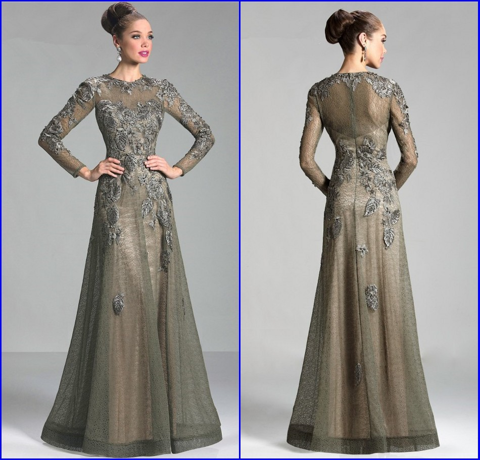 Long Gowns For Wedding Guests: Gorgeous Vestido De Renda Long Sleeve Dresses For Wedding