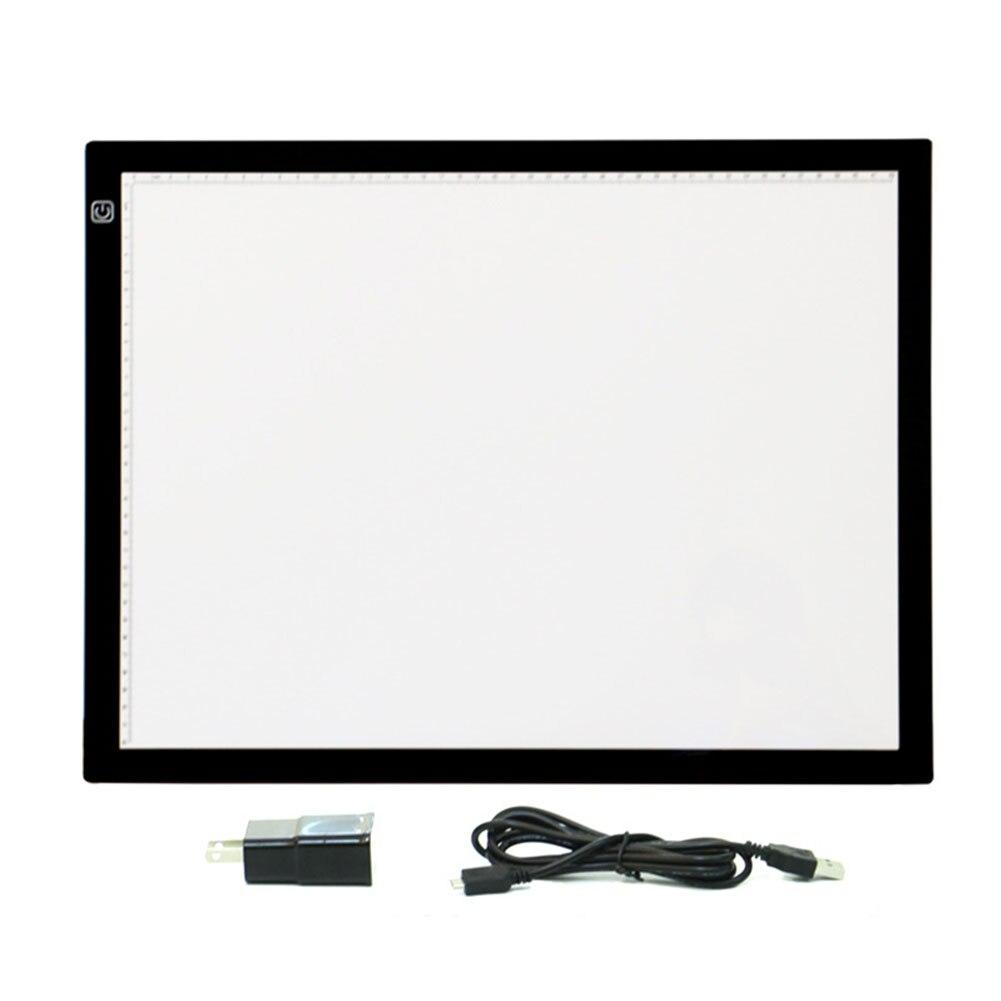 Ultra mince A3 copie Table à dessin luminosité réglable croquis Pad traçage artistes Art pochoir boîte à lumière LED