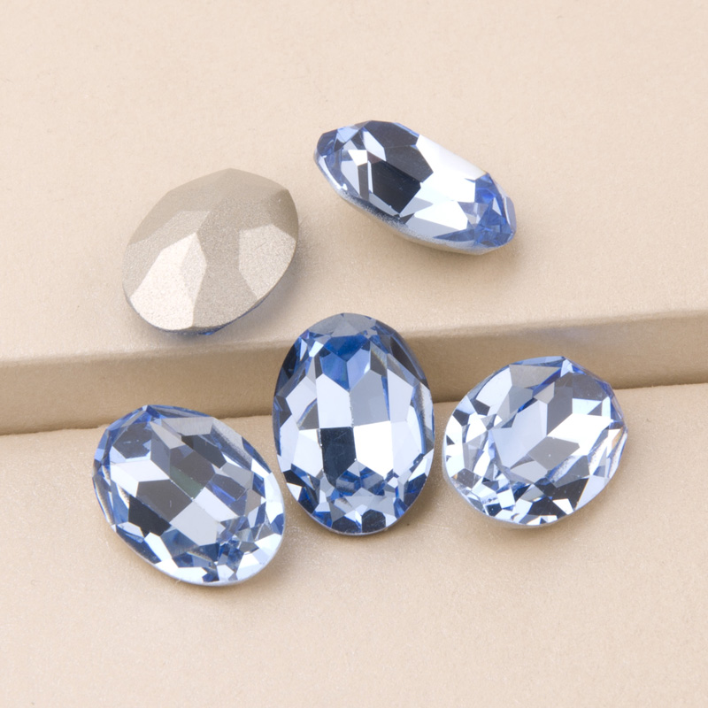 4120 All Sizes Light Sapphire Oval Stones for Needlework Rhinestones Blue Sewing DIY Crystals for Clothes in Rhinestones from Home Garden
