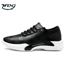 YUG New Style Men Running Shoes Outdoor Walking Jogging Sneakers Lace Up Leather Athletic Shoes Soft Fast Free Shipping