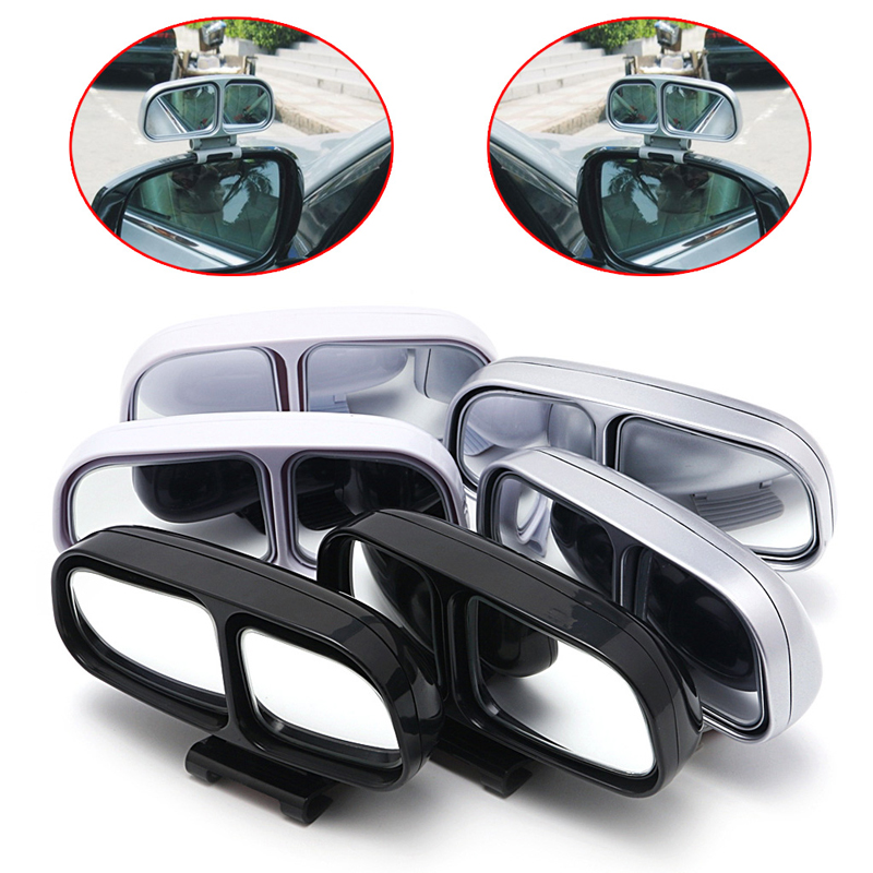 1Pc Auto Wide Angle Rear Mirror Side View Car Universal Blind Spot Square Mirror New