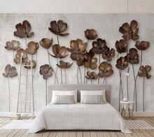 3D Wallpaper iron flower retro modern minimalist
