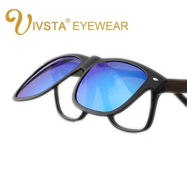 c9f6511d646 IVSTA 2018 Clip On Sunglasses Men Flip Up Clips Lenses Driving Sun Glasses  Polarized Women myopia
