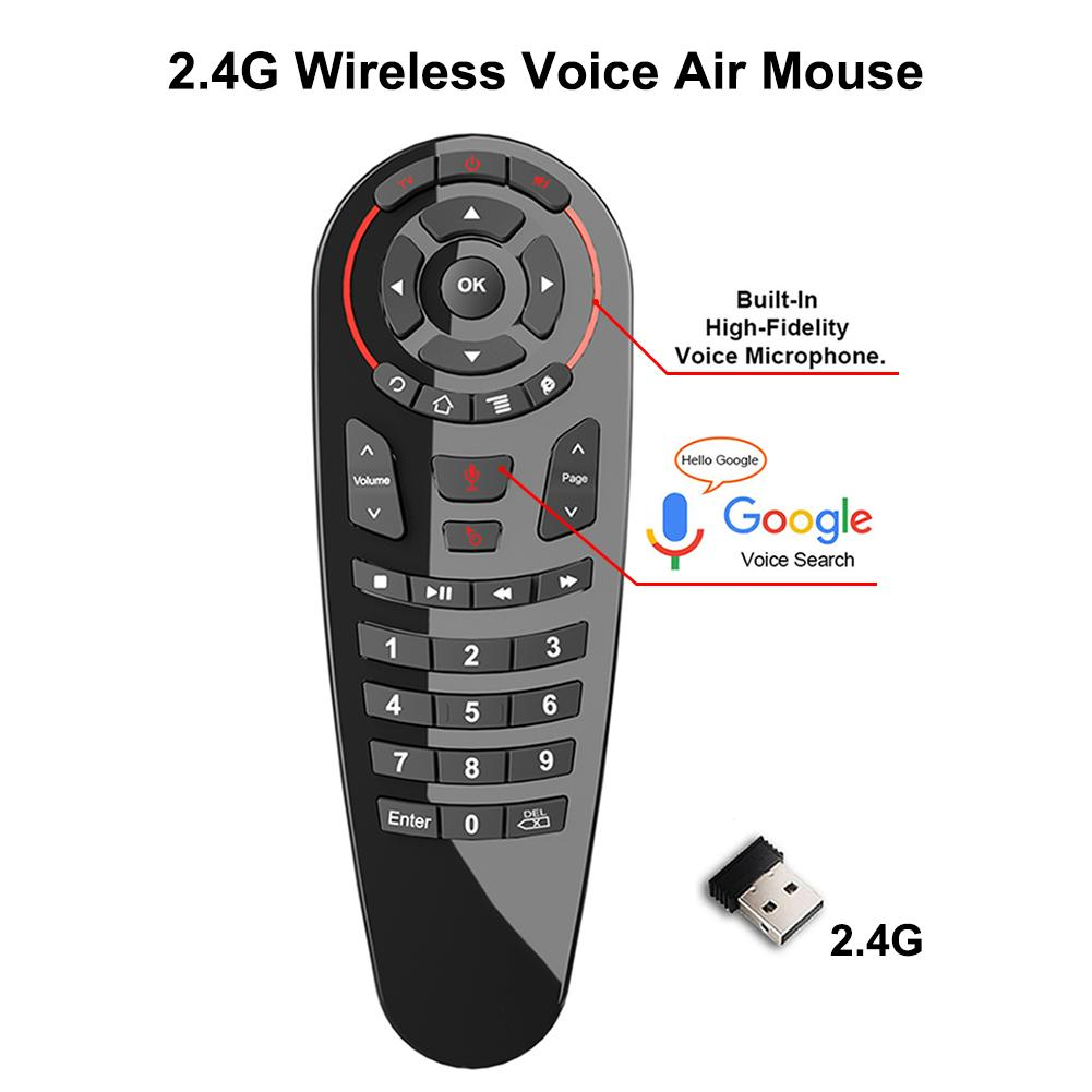 G30 Voice Air Mouse Remote Gyroscope Wireless Control 2.4G Google Assistant 6 Axis Mous