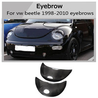 beetle all carbon fiber eyebrows Car headlight lips brows High quality for Volkswagen Beetle 1998 2010