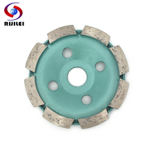 RIJILEI 100mm Diamond grinding wheel disc Bowl Shape 4inch Grinding cup for concrete floor marble Diamond Polishing pads HC09 100mm diamond grinding wheel disc bowl shape grinding cup concrete granite stone ceramics tools