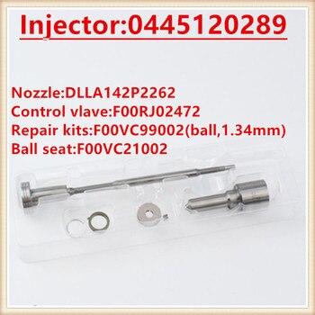 F00RJ03515 0445120289 ディーゼル噴射装置の修理キット F00RJ02472 DLLA142P2262 (0433172262) ノズル用 0445120289 (5268408)