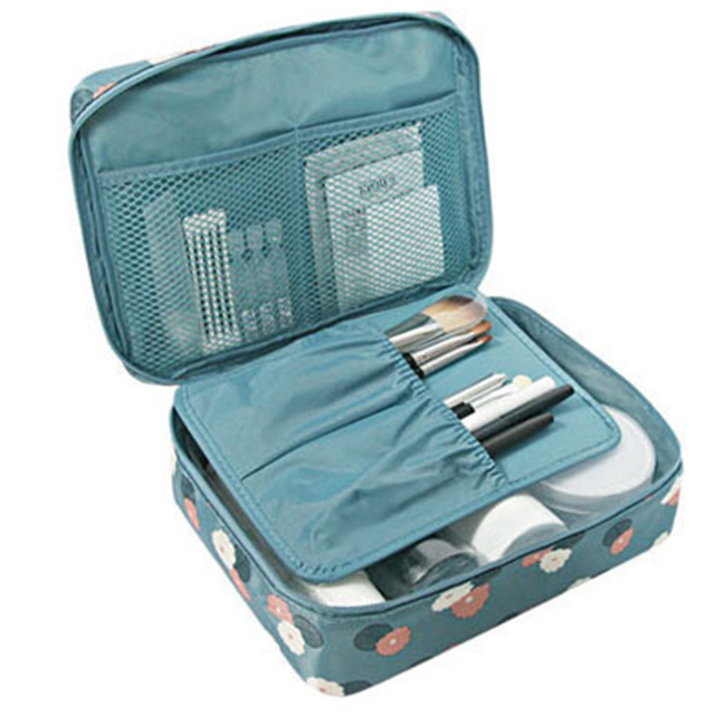 HTB1qrK7l4rI8KJjy0Fpq6z5hVXaY - Fashion Travel Nylon beauty makeup bags water-proof cosmetics bags