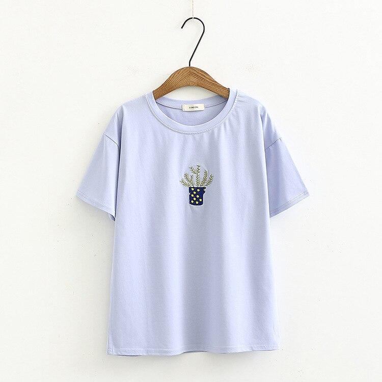Mujeres camisetas de manga corta Mujer camiseta mujer ropa Casual Tops ocio pequeño diseño de la historieta