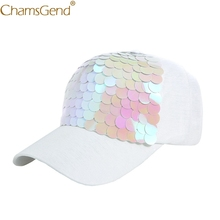 f4db6564748 Fashion Fish Scale Baseball Caps Women Girls Novelty Sequins Snapback Sun  Hat Unisex Summer Cap Gorras