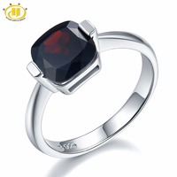 3 1Ct Mystery Black Garnet Solid 925 Sterling Silver Ring Natural Gemstone Womens Fine Jewelry Birthstone