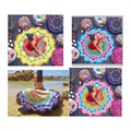 New Polygon Purple Small Ball Sand Printing Lotus Colorful Beach Towels Tassel Pashmina 783