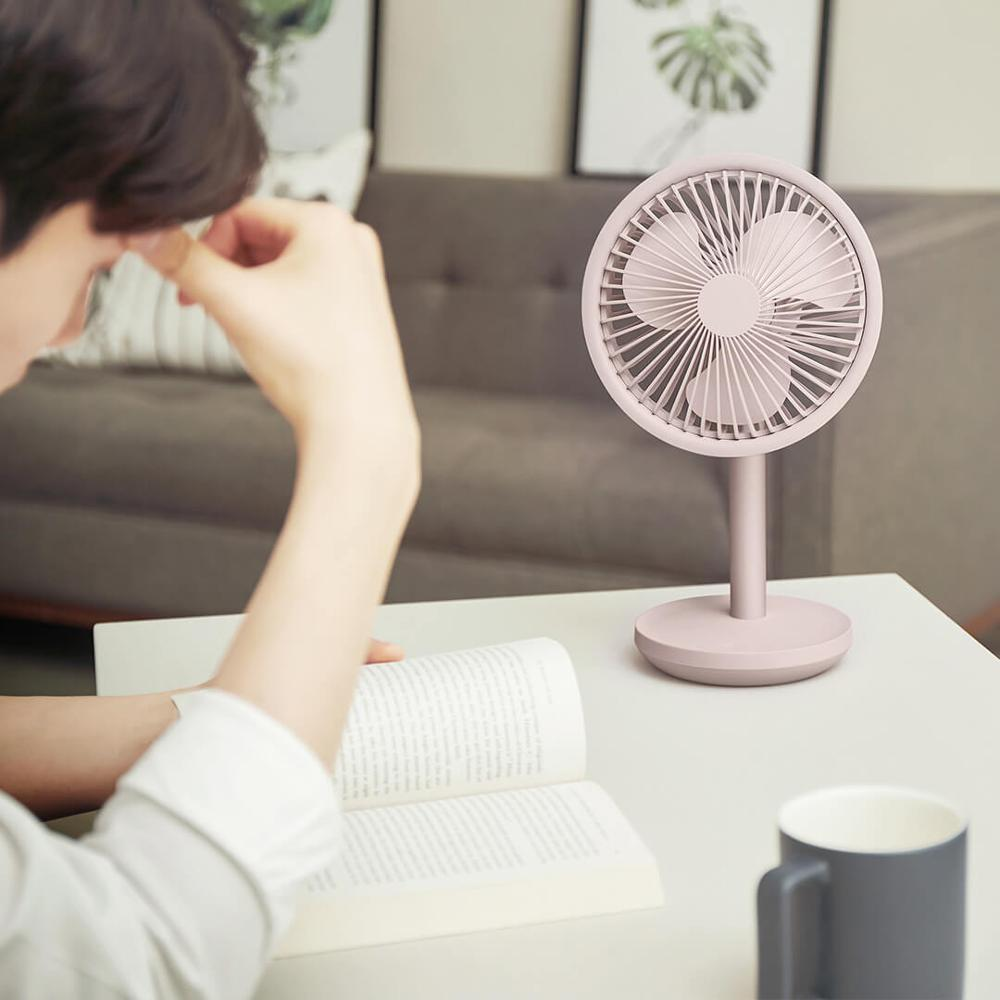 Xiaomi SOLOVE Desktop Fan 60   Shaking Head Height ,Wind Speed Adjustable 4000mAh USB Chargeable Light Portable Fan Home Office-in Smart Remote Control from Consumer Electronics    3