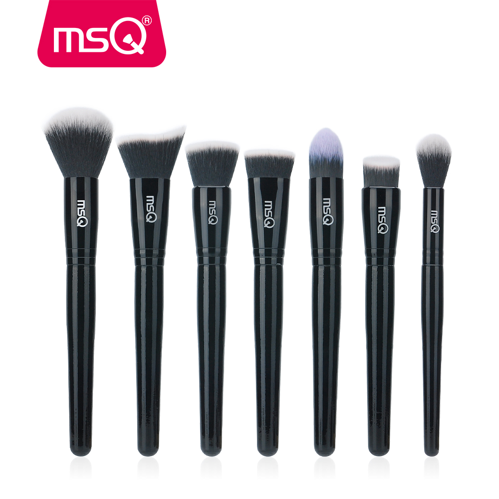 MSQ 15stk Makeupborstar Set pincel maquiagem Svart Klassisk Pulver Foundation Eyeshadow Make Up Borstar Med Syntetisk Hår