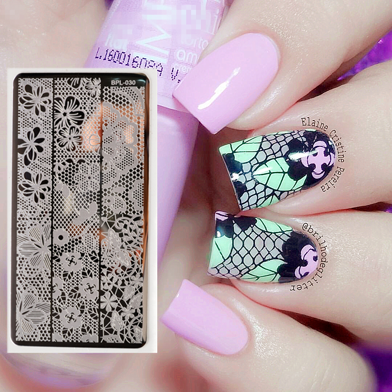 Born Pretty Full Lace Plate Nail Art Stamp Template Image
